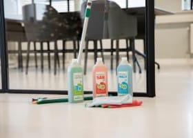MVO betekent ook schoonmaken met duurzame schoonmaakmiddelen.