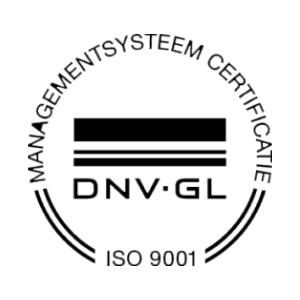 ISO 9001-gecertificeerd via DNV-GL.